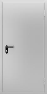 Глухая противопожарная дверь ДМП 01 №40 EI15 вид снаружи