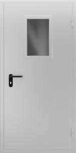 Противопожарная дверь со стеклом ДМПО 01 №41 EI15 вид снаружи