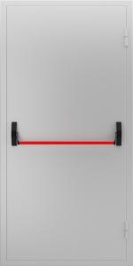 Глухая противопожарная дверь с ручкой «Антипаника» ДМП 01 №43 EI15 вид снаружи