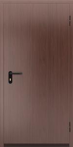 Глухая противопожарная дверь с отделкой МДФ ДМП 01 №44 EI15 вид снаружи