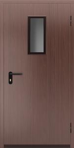 Противопожарная дверь со стеклом ДМПО 01 №45 EI15 вид снаружи