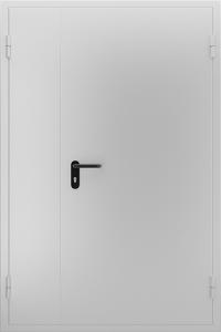 Глухая противопожарная дверь ДМП 02 №46 EI15 вид снаружи