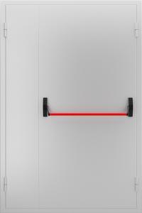Глухая противопожарная дверь с замком «Антипаника» ДМП 02 №49 EI15 вид снаружи