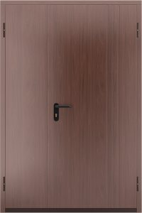 Глухая противопожарная дверь с отделкой МДФ ДМП 02 №50 EI15 вид снаружи