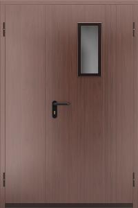 Противопожарная дверь со стеклом ДМПО 02 №51 EI15 вид снаружи