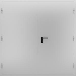 Глухая противопожарная дверь ДМП 02 №52 EI15 вид снаружи