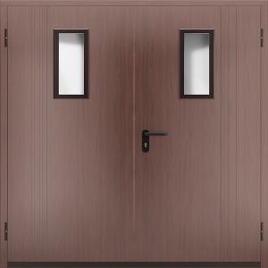Противопожарная дверь со стеклом ДМПО 02 №58 EI15 вид снаружи