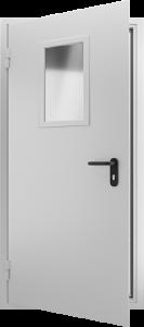 Противопожарная дверь со стеклом ДМПО 01 №41 EI15 вид внутри