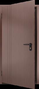 Глухая противопожарная дверь с отделкой МДФ ДМП 01 №44 EI15 вид внутри