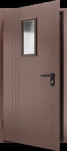 Противопожарная дверь со стеклом ДМПО 01 №45 EI15 вид внутри