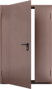 Глухая противопожарная дверь с отделкой МДФ ДМП 02 №50 EI15 вид внутри