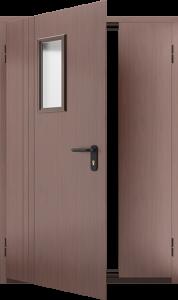 Противопожарная дверь со стеклом ДМПО 02 №51 EI15 вид внутри