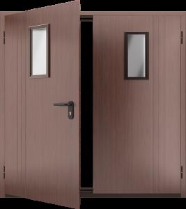 Противопожарная дверь со стеклом ДМПО 02 №58 EI15 вид внутри