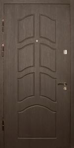 Входная дверь КВ242 вид внутри