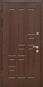Входная дверь КВ4 в квартиру вид внутри
