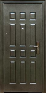 Бронированная дверь Б28 вид внутри