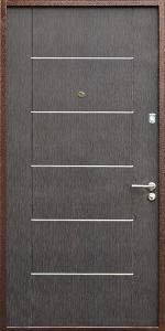 Входная дверь КВ121 вид внутри