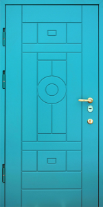 Входная дверь КВ145 вид внутри