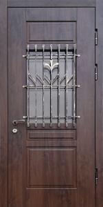 Противопожарная дверь со стеклом ДМПО 01 №28 EI60 вид снаружи