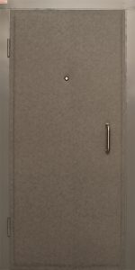 Тамбурная дверь Т64 вид внутри