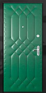 Бронированная дверь Б44 вид внутри