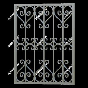 Кованая решетка №1