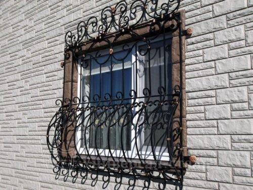 Кованая решетка №2 — фото