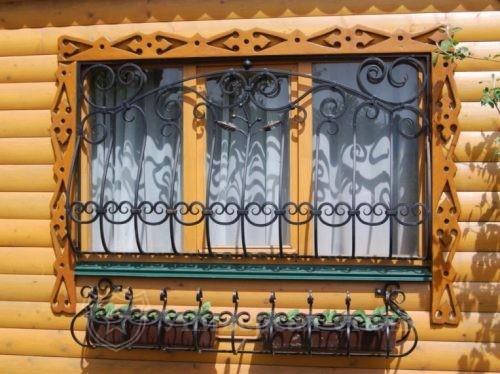 Кованая решетка №103 — фото