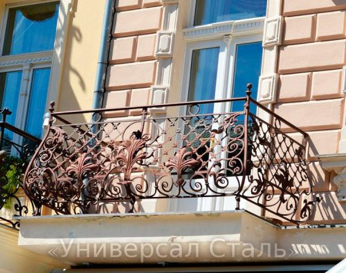 Кованый балкон №104 — фото