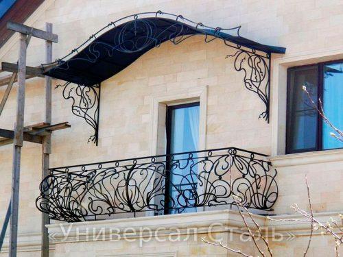 Кованый балкон №105 — фото