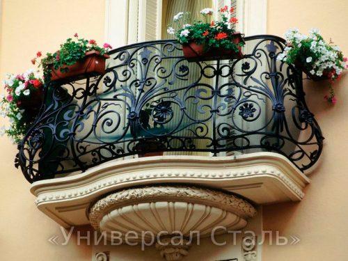 Кованый балкон №106 — фото