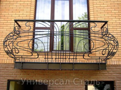 Кованый балкон №11 — фото