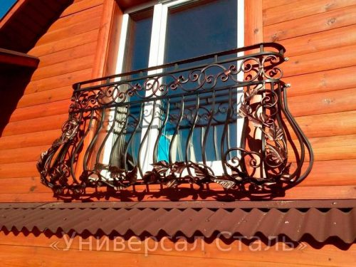 Кованый балкон №111 — фото