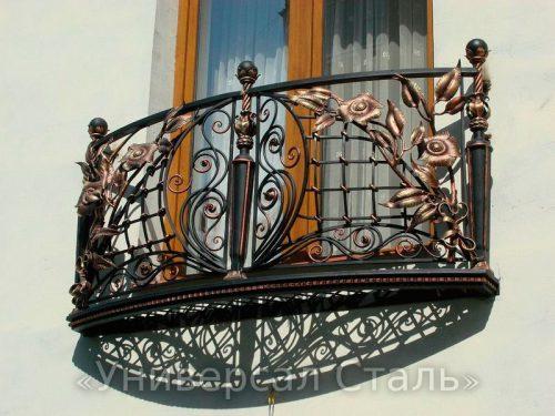 Кованый балкон №113 — фото