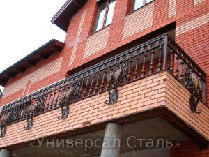 Кованый балкон №116 - фото 1