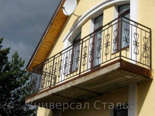 Кованый балкон №118 — фото