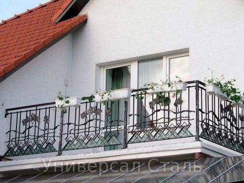 Кованый балкон №120 — фото