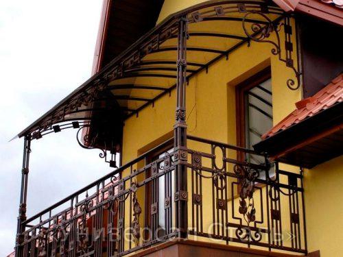 Кованый балкон №121 — фото