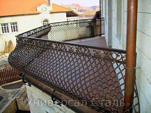 Кованый балкон №123 — фото