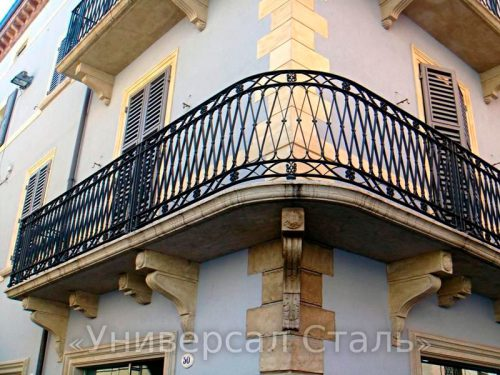 Кованый балкон №124 — фото