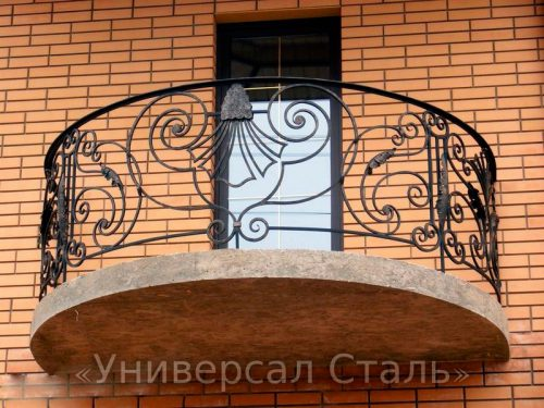 Кованый балкон №15 — фото