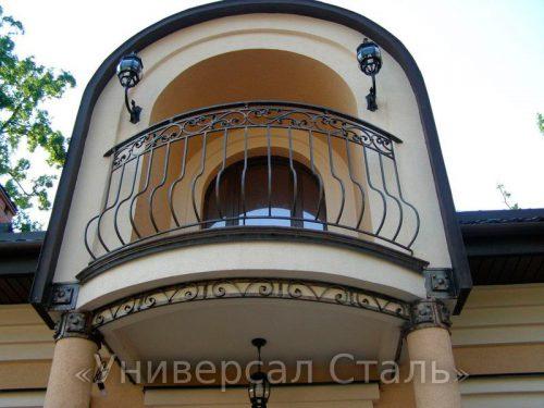 Кованый балкон №16 — фото