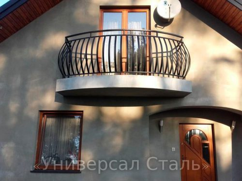 Кованый балкон №17 — фото