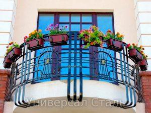Кованый балкон №27 - фото 1