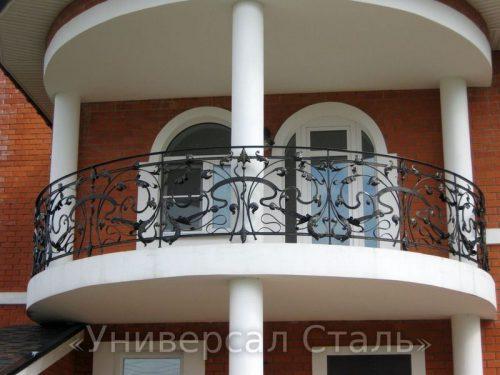 Кованый балкон №3 — фото