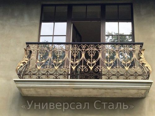 Кованый балкон №33 — фото