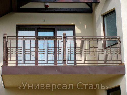 Кованый балкон №37 — фото