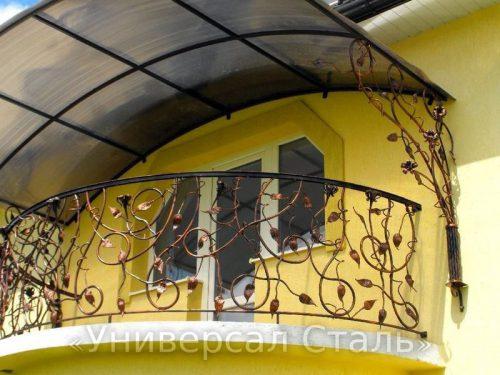 Кованый балкон №55 — фото