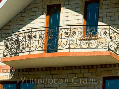 Кованый балкон №60 — фото