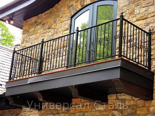 Кованый балкон №61 — фото